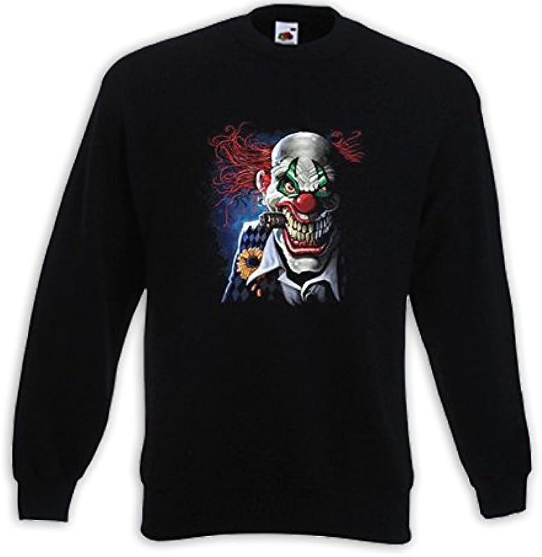 Fruit of the Loom Fun Pullover Joker Clown Horror Sport Comic Totenkopf Tattoo: Odzież