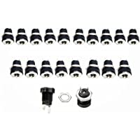 Lsgoodcare 20Pack 2Pin 3.5MM x 1.3MM DC Power Jack Socket Female Threaded Mount Connector Adapter