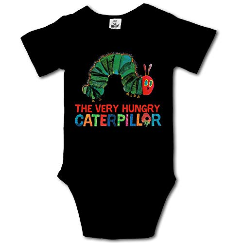 Ghhpws Caterpillar The Very Hungry Baby's Unisex Short Sleeve Comfortable Bodysuit Outfits Black Size 0-3 M]()
