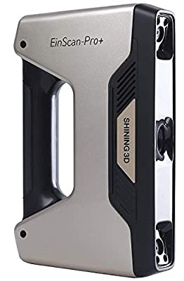 2019 EinScan-Pro+ with R2 Function Multi-Functional Handheld 3D Scanner,4 Scan Modes,0.05 mm Accuracy 550000 Points/Sec Scan Speed,Industrial Level 3D Scanner for Design Research,Accessories Available
