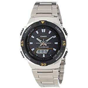 41v0CrnQrBL. SS300  - Casio Men's AQS800WD-1EV Slim Solar Multi-Function Analog-Digital Watch