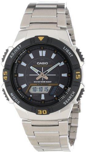41v0CrnQrBL - Casio Men's AQS800WD-1EV Slim Solar Multi-Function Analog-Digital Watch