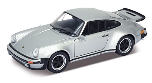 (Welly 24043 1974 Porsche 911 Turbo 3.0 Silver 1/24 Diecast Model Car)
