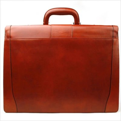 Bosca Old Leather Double Gusset Leather Briefcase - Cognac by Bosca