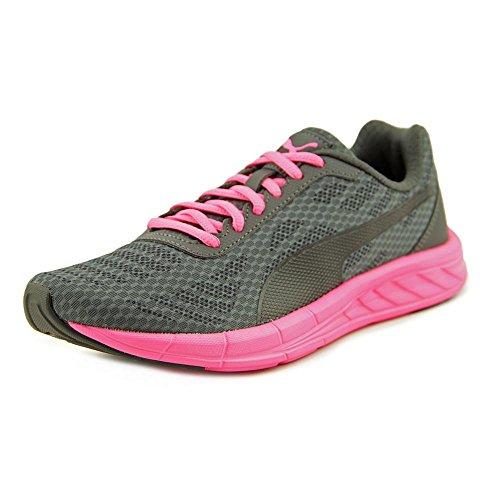 PUMA Women's Meteor WN'S Cross-Trainer Shoe, Puma Black-Asphalt-Knockout Pink, 9.5 M US - Puma All Black Sneakers