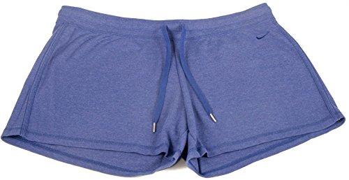 Nike Womens Light Weight Jersey Drawstring Running Shorts Large Purple