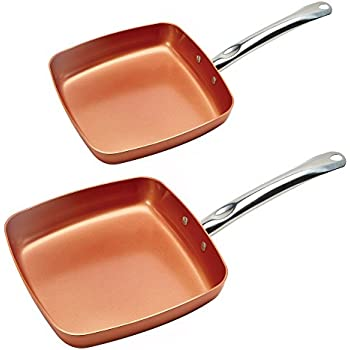 Amazon Com Copper Chef Square Frying Pan 9 5 Inch
