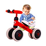 Baby Balance Bike, Ride on Scooter, Mini Bike, Bicycle for Children Riding Toy Balance Baby Walker Push Car Walking Buddy Bike for Baby Kid Toddler Indoor Outdoor Activities 6-48 Months (Red)