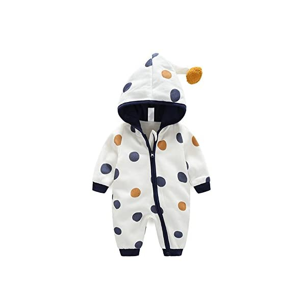 Baby Boy Baby Girl Unisex Clothes – Long Sleeve Hoodies Autumn Winter Warm Romper Outfit 18-24 Months
