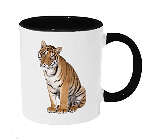 Curious Tiger Coffee or Tea 11oz Mug - Perfect Gift for Cat and Animal Lovers