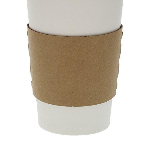 Envirolines Disposable Kraft Paper Hot Coffee Cup Sleeves, Pack of 100