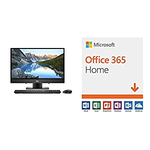 Dell-Inspiron AIO 3475 All in One Computer, Black (i3475-A802BLK-PUS) with Microsoft Office 365 Home | 12-month subscription with Auto-renewal