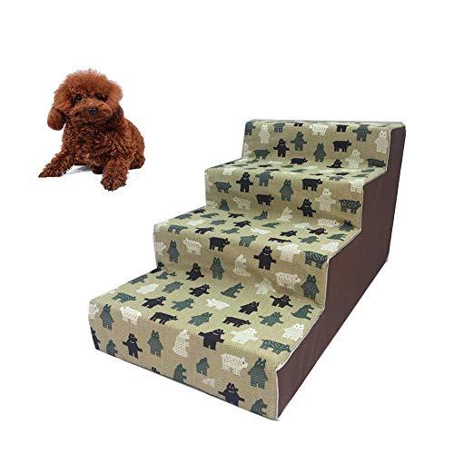 DJLOOKK Escaleras De Mascotas Rampas para Camas Altas, como Escalera De Perro para Camas Altas De Sofá Ideal para Gatos Y...