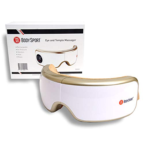 Body Sport® Eye and Temple Massager - Heat Compression and Pressure Therapy Device - Eye Fatigue Relief - Rechargeable ()