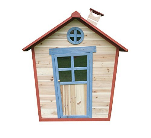 Redwood Lodge PlayhouseIncludes Floor, Children's Wooden Painted Garden Crooked Wendy Play House (Thicker Fir Wood) 5' x 4' by Big Game Hunters by Big Game Hunters