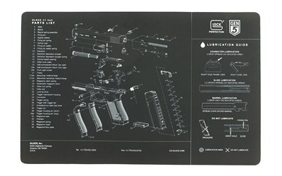 Glock Perfection OEM Gen5 Exploded Diagram Pistol Bench Mat - Glock Pistol Cleaning