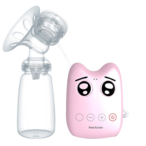 Pueri Electric Breast Pump Suction Portable USB Automatic Single Comfort Pregnant Women Pull Milk Device Powerful Mom Milk Extractor (Pink)