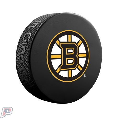 Boston Bruins Official Basic Collectors NHL Hockey Game Puck by Sher-Wood