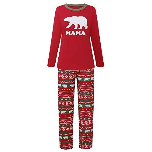 bd7b16bd7c ALILING Family Matching Christmas Pajamas Sets Papa Mama Kids Babys Holiday  Sleepwear Bear Nightwear