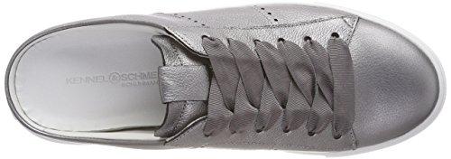 Mujer Alluminio Schuhmanufaktur Sohle und Zapatillas para Schmenger Silber Kennel Weiß Big gnw8YCpxqq
