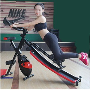 Multi Functional Home Fitness Machine Core Toning Exercise Equipment, 7 in 1, AB Glider, Exercise Bench, Exercise Bike, LCD Display, and Pulse Reader by Joyfay (Image #4)
