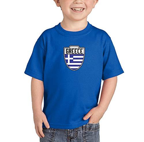 HAASE UNLIMITED Greece Greek - Soccer T-Shirt (Royal Blue, 3T) ()
