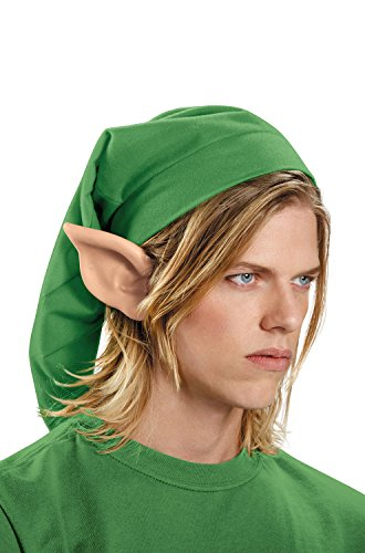 Disguise Men's Link Hylian Adult Costume Ears, Beige, One Size -