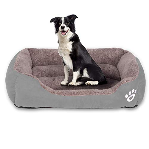 Utotol FRISTONE Dog Beds for Large Dogs, Washable Pet Sofa Bed Large Extra Firm Cotton Breathable Soft Couch Small Puppies Cats Sleeping Orthopedic Beds (XX-Large)