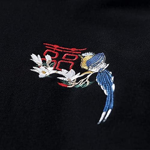 Chaos World Homme Sweats /à Capuche Pull /à Manches Longues Sweat-Shirts Hoodie Pochette Brod/é Noir Impression