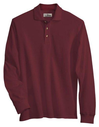 Tri Mountain 665 Monument Cotton Pique Long Sleeve Golf Shirt
