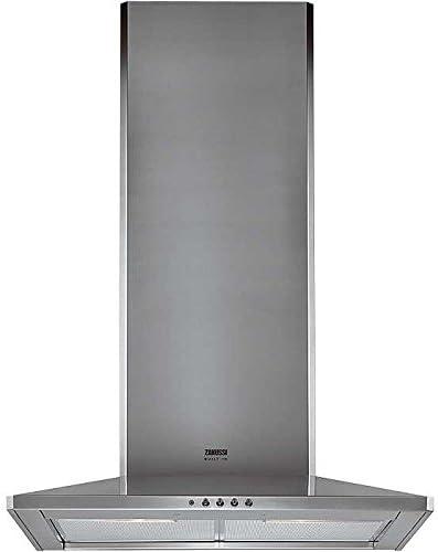 Zanussi ZHC 631 X 506 m³/h De pared Acero inoxidable - Campana (506 m³/h, 61 dB, De pared, Acero inoxidable, 2 bombilla(s), Aluminio): Amazon.es: Hogar