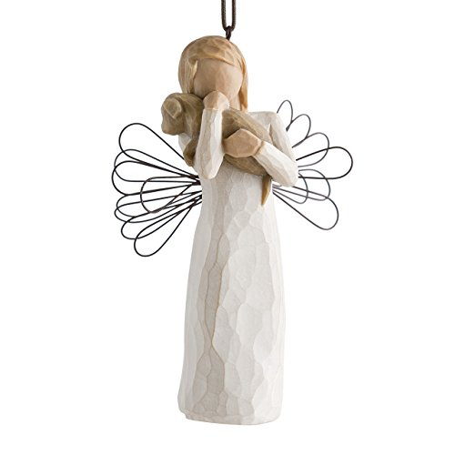 Willow Tree hand-painted sculpted Ornament, Angel of Friendship - Figurine Tree Ornament