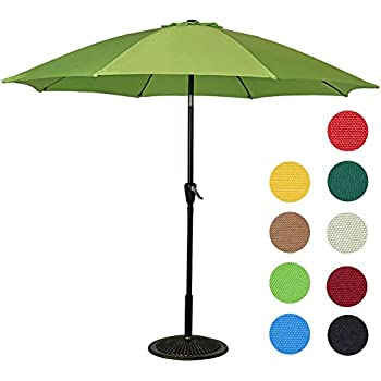 This Item Sundale Outdoor 9 Feet Aluminum Patio Umbrella With Crank And  Push Button Tilt, 8 Fiberglass Ribs (Lime Green)