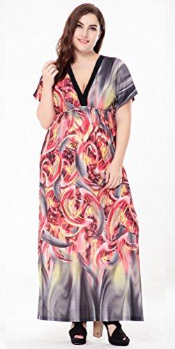 Lukis Damen Blumen Partykleid Große Größen Cocktailkleid Abendkleid ...