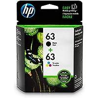 HP 63 Black & Tri-Colour Original Ink, 2 Cartridges (L0R46AN)