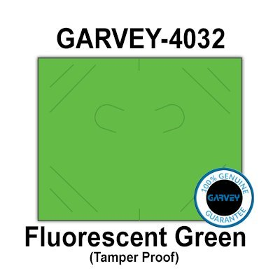 224,000 (2 Cases) GENUINE GARVEY 2016 Fluorescent Green General Purpose Labels: Tamper proof security cuts [compatible with Monarch Price Guns]