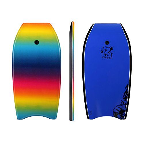 Random 37 inch and 41 inch High Performance Bodyboards Lightweight with EPS core(Rainbow and color dots two colors Available) (Ranbow, 37)
