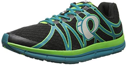 Pearl Izumi Men's EM Road M 2 B/HB Running Shoe, Black/Harbor Blue,8.5 D US