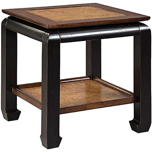 Stein World Accent Chair - Stein World 26 in. Chair Side Table in Brown Finish