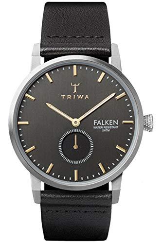 Triwa falken Unisex Analog Japanese Quartz Watch with Leather Bracelet FAST119CL