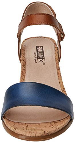 Caviglia Con Blue Vigo Alla Pikolinos royal Sandali Blu Donna Cinturino W3r xfYwSg
