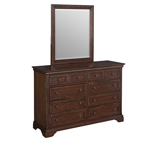 Elegant Cherry Finish Dresser Mirror - 9