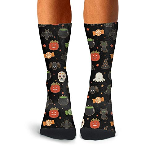 (Halloween candy skull cat pumpkin black Compression Socks for Men Boot Socks Thermal Socks)