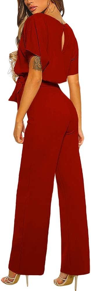 Happy Sailed Damen Langarm O-Ausschnitt Elegant Lang Jumpsuit Overall Hosenanzug Playsuit Romper S-XL/…