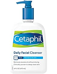 Cetaphil Daily Facial Cleanser, for normal to oily skin, 16.0 -Ounce Bottles (Pack of 2)
