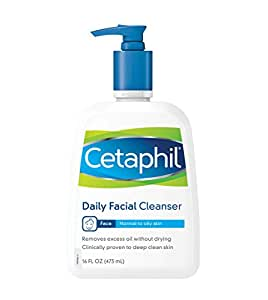 Cetaphil Daily Facial Cleanser, For Normal to Oily Skin, 16 Ounce (Pack of 2)
