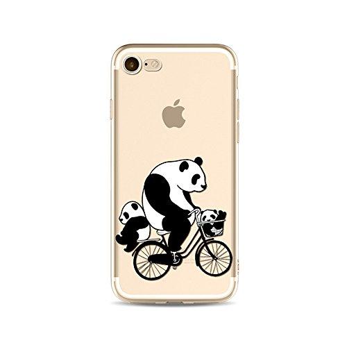 iPhone 6S Funda Silicona, BoomTeck Trasparente Protector Bumper Carcasa para 4.7 Apple iPhone 6 /iPhone 6S Delgado Sottile Goma Cristal Clear TPU Gel Cubierta Shock-Absorción Flessibile Patrón de art 06