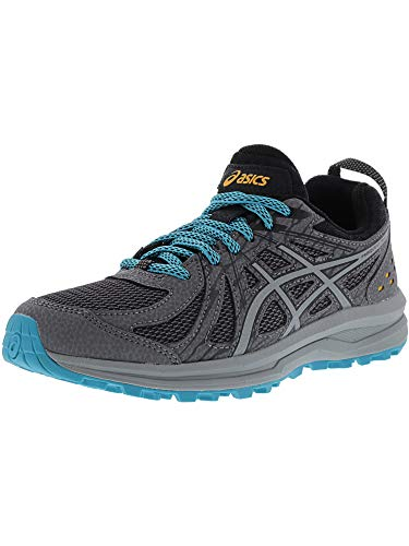 (ASICS Women's Frequent Trail Carbon/Stone Grey Ankle-High Running Shoe - 6M)