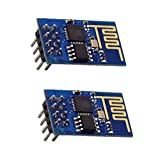 GeeBat ESP8266 Serial WIFI Wireless Transceiver Module ESP-01 Support LWIP AP STA for Arduino UNO R3 Mega2560 Nano Pack of 2pcs