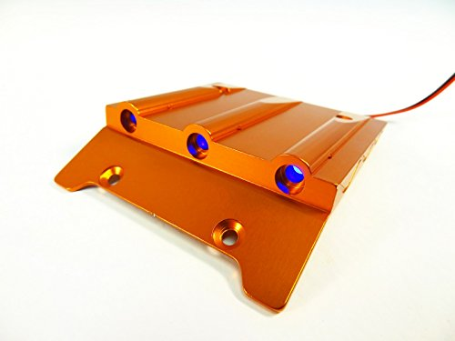 Rovan RC CNC Aluminum Alloy Lighted Roof Scoop (orange) Fits HPI Baja 5b SS 2.0 King Motor Buggy